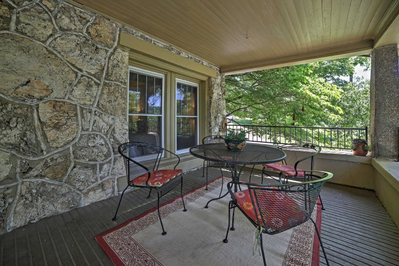 Unwind with ease on the massive covered porch.