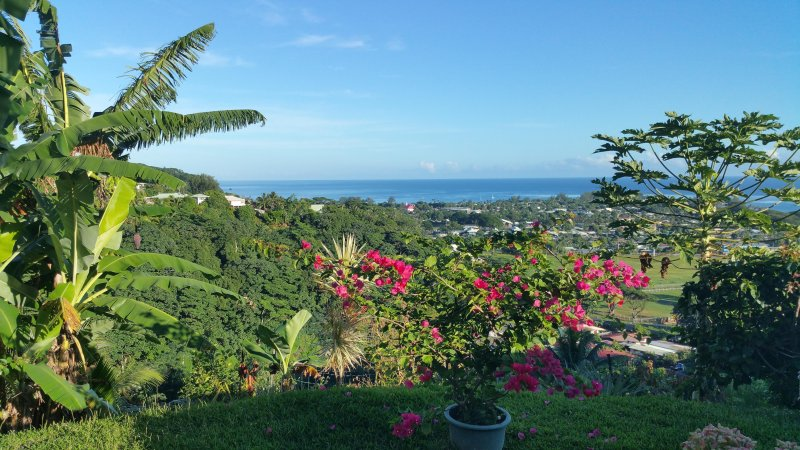 MAHINA'S LODGE  2   Chambres en location   avec magnifique vue sur venus, vacation rental in Society Islands