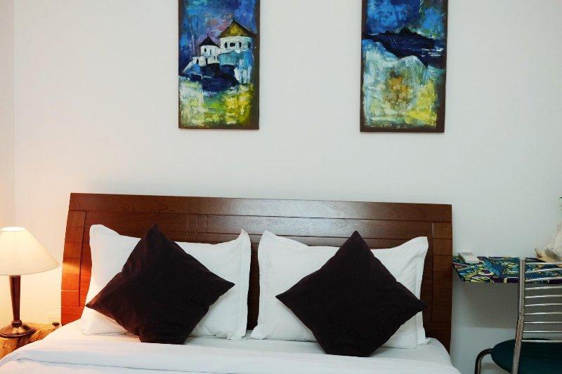 Warme Schlafzimmer mit komfortablen AC