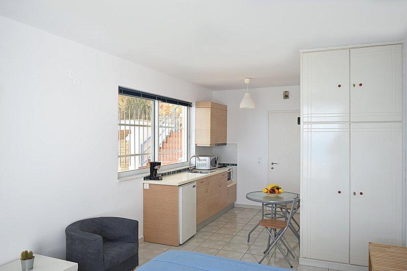 Kitchen - Holiday Beach Studio Apartment in Kiveri village close to Nafplion