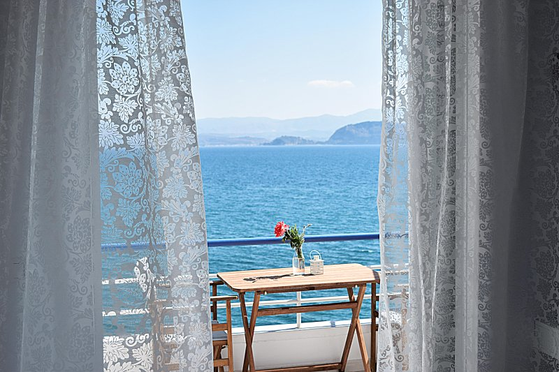 The view from apartment - Holiday Beach Studio Apartment in Kiveri village close to Nafplion
