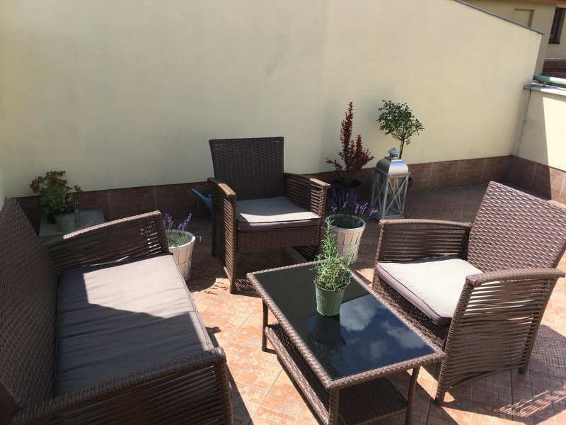 Lovely flat with ROOF TERRACE close to Parliament, vacation rental in Solymar