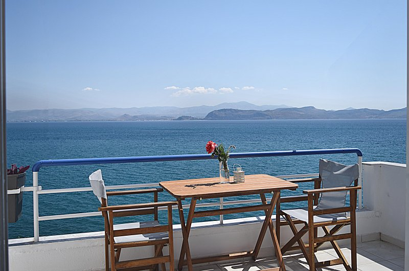 Sea View from balcony- Holiday Beach  Studio Apartment in Kiveri village close to Nafplion
