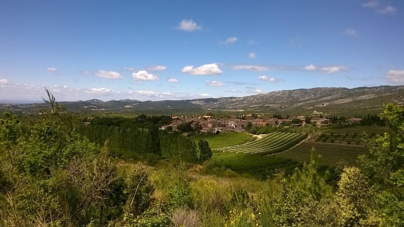 View of Les Baux from Sainte Colombe.