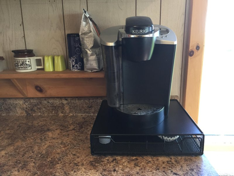 A Keurig on the counter .. don't forget your K-Cups.