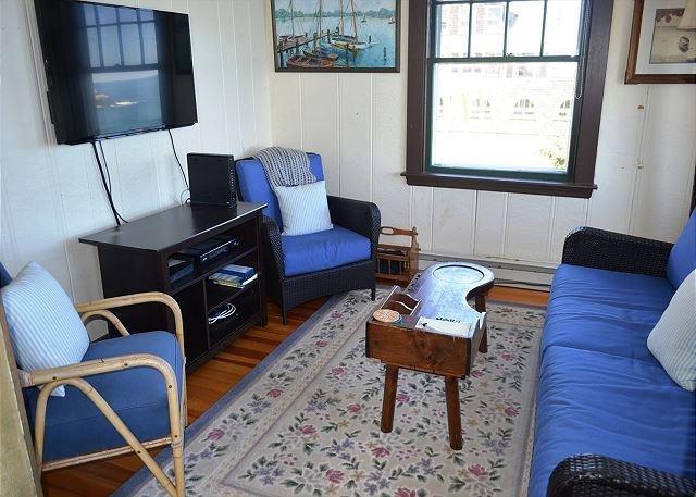 TV sitting room with ocean views.