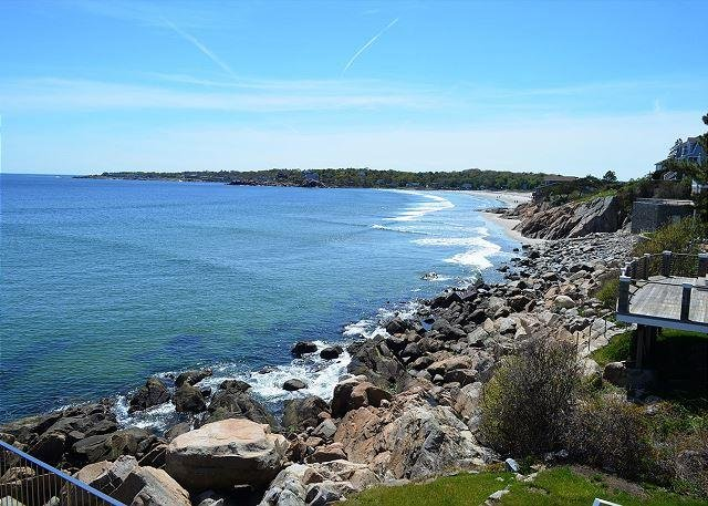 View of Good Harbor Beach from the deck.