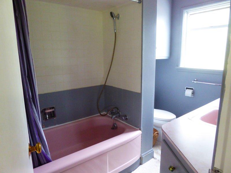 The pink bathroom