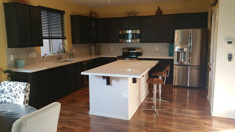 Open concept kitchen, upgraded all throughout
