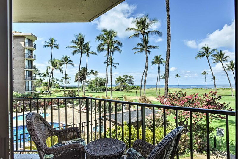 Escape to the tropical island of Hawaii and stay at this 2-bedroom, 2-bathroom vacation rental condo in Kihei that sleeps 6.
