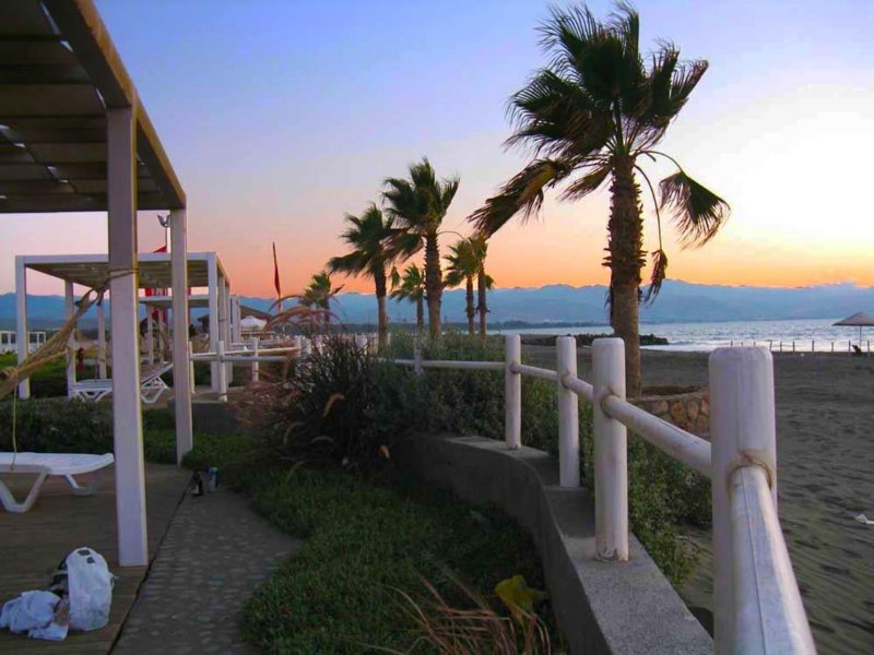 My favorite time of day at Aphrodite Beachfront Village, Gaziveren.