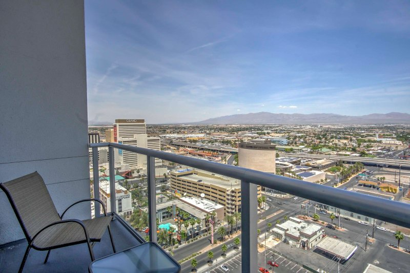 Experience Sin City like never before when you stay at this 1-bedroom, 1.5-bathroom Las Vegas vacation rental condo that comfortably sleeps 4!
