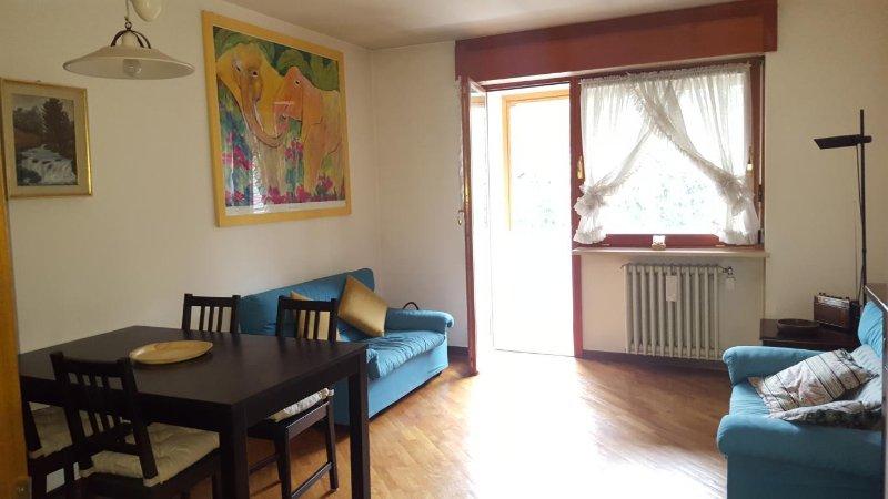 Grazioso appartamento trilocale più box auto, doppia esposizione est-ovest, holiday rental in Bardonecchia
