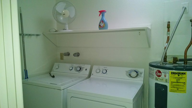 Washer and dryer are in the condo.