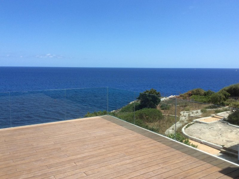 View from 2nd floor terrace to open sea