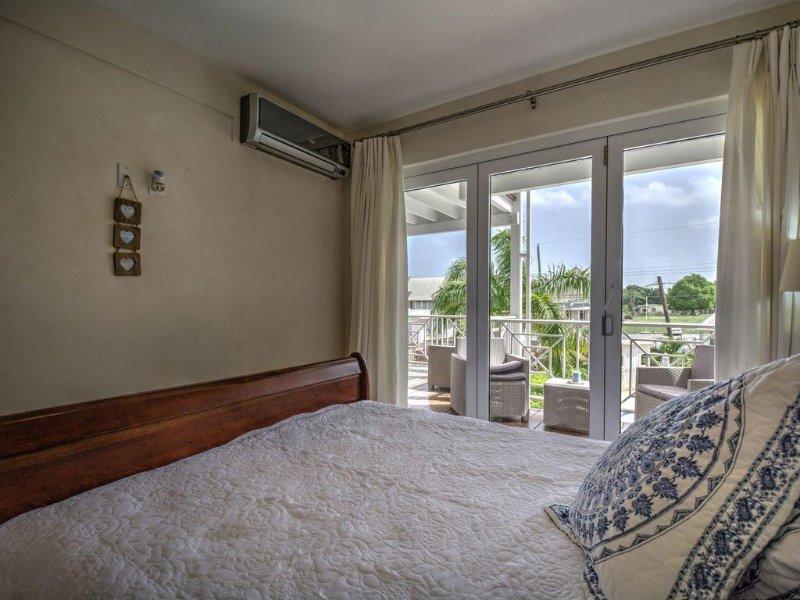 Dormitorio principal en colores fríos!