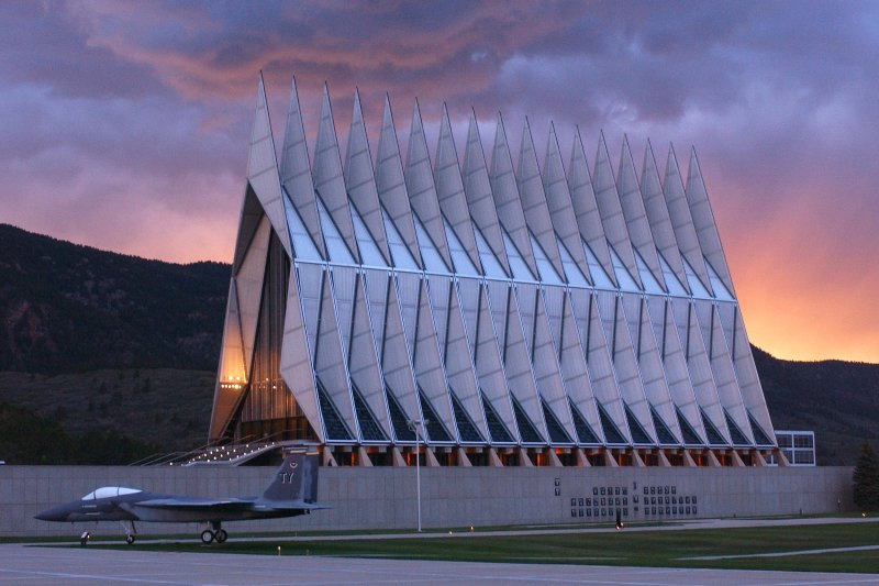The US Air Force Academy is only 15 minutes north on I-25