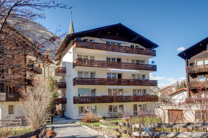 The Old Mill House – Vieux Moulin - is located in the very centre of Zermatt.