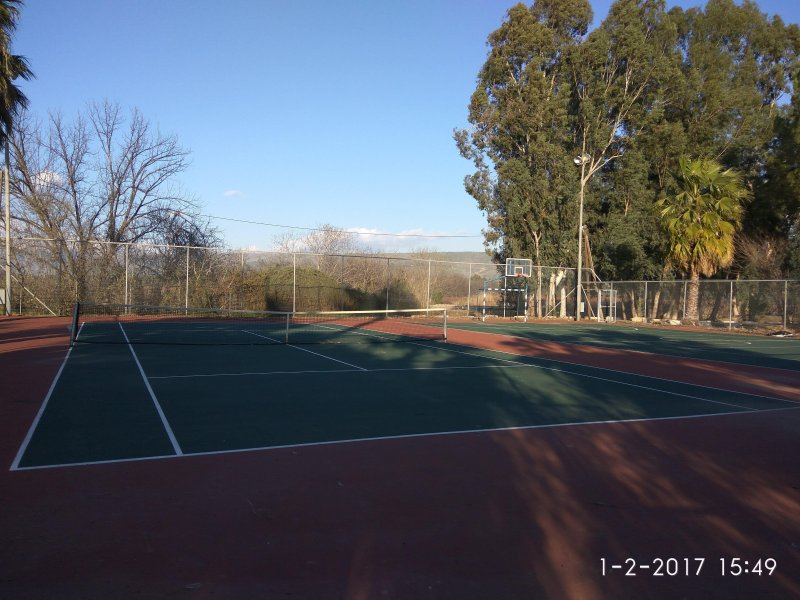 Local Tennis, Basketball and footbal courts. 5 minutes walk from us
