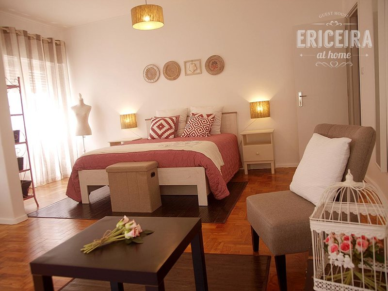 private and family room with double bed and sofa bed