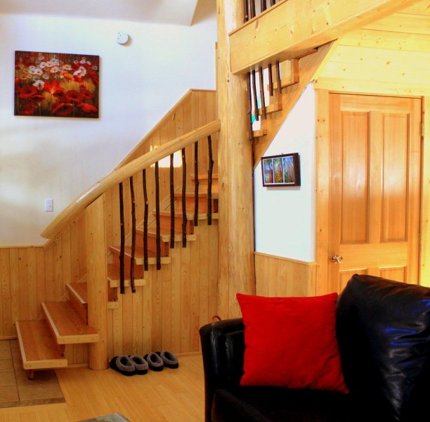 Wood highlights throughout cabin