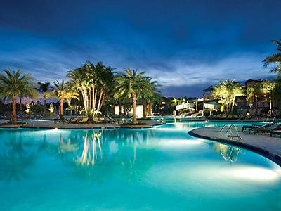Indoor-outdoor pools, two water slides, interactive fountains, hot tubs,