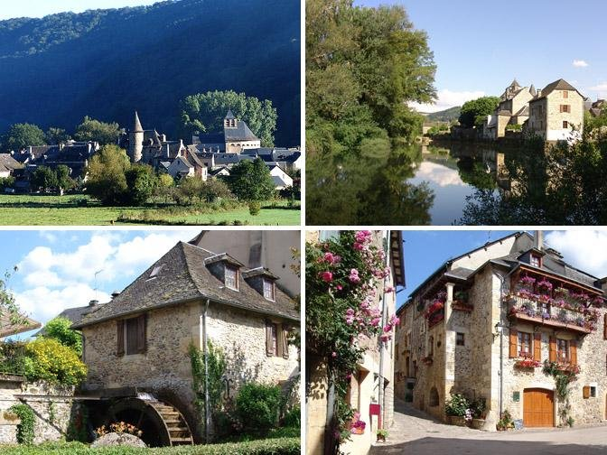 Our village. Village flowers and one of the Most Beautiful Villages of France