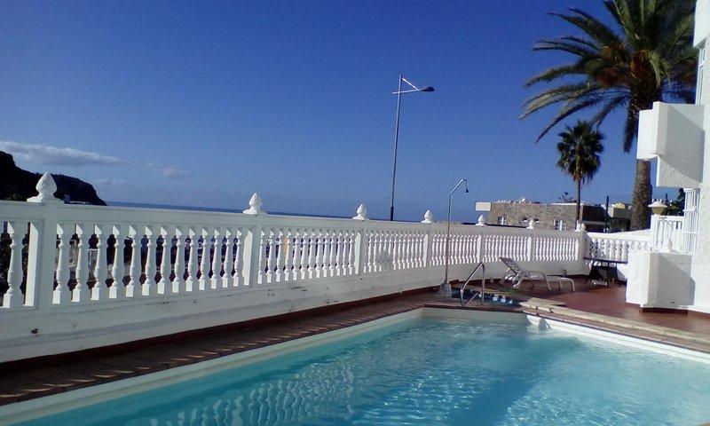 pool overlooking the sea