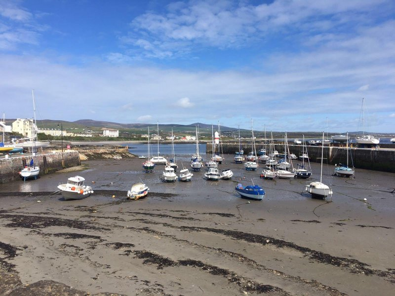 Port St Mary has a pretty working harbour close by