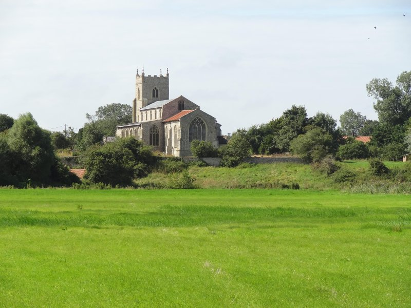 Wiveton Church - once a busy port - marks from mooring ropes can still be seen etched into the walls