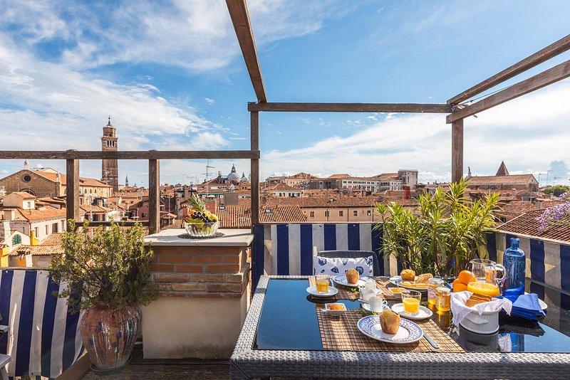 Venini appartement een prachtig panoramisch dakterras