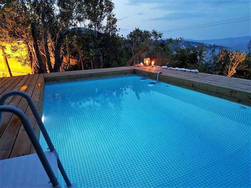 Semele House, private pool, Great Views, vacation rental in Marathon