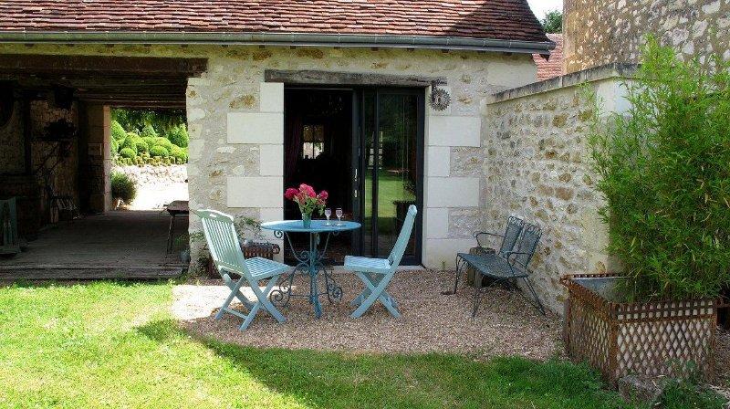 sidovy terrassen från privat trädgård