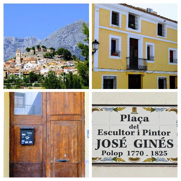 Nuestra plaza dedicada a Jose Gines artista