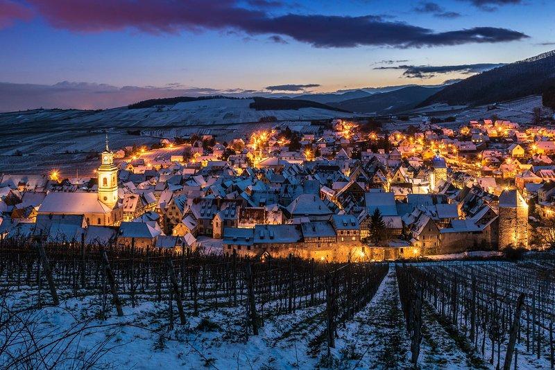 La splendida cornice di Riquewihr, il nostro paese sulla strada dei vini dell'Alsazia.