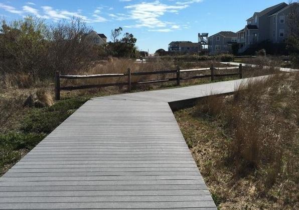Trex walkway to the beach!
