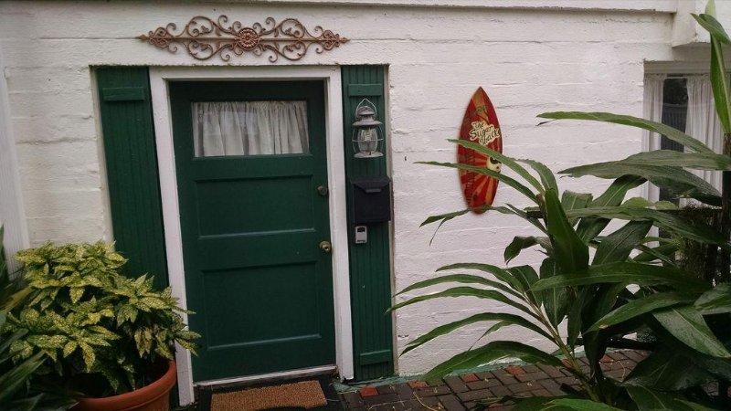"Carriage House, ""La cabaña del azúcar"" entrada"