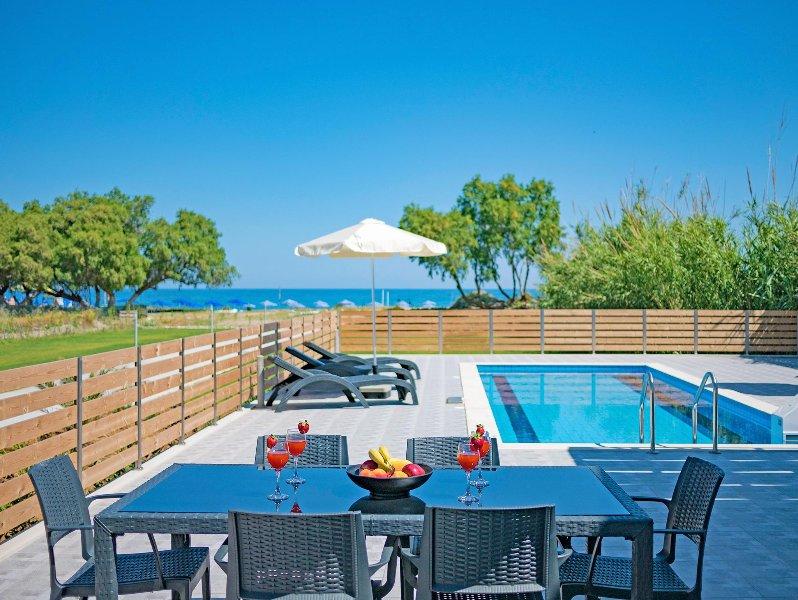The private swimming pool area