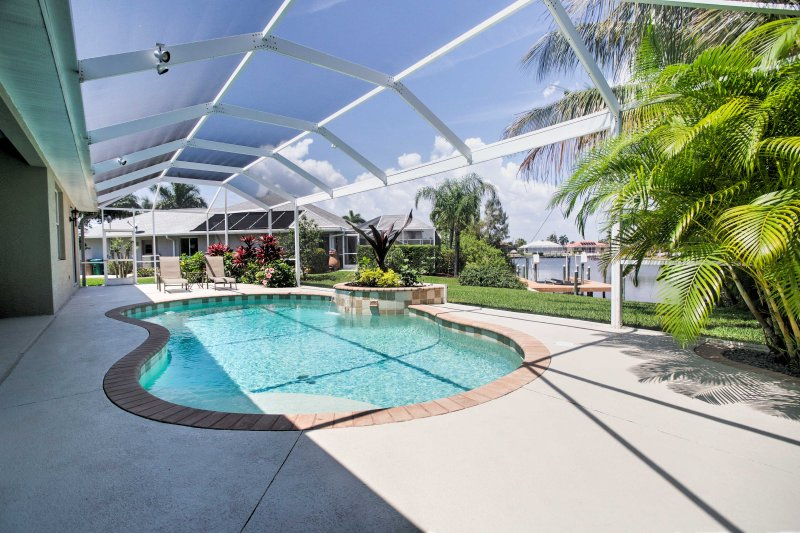 Plan your next escape to the Sunshine State and stay at this luxurious 3-bedroom, 2-bathroom vacation rental house which sleeps 6 guests in Cape Coral, Florida.