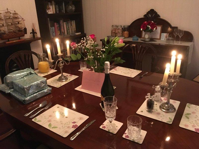 Enjoy a romantic candlelit dinner
