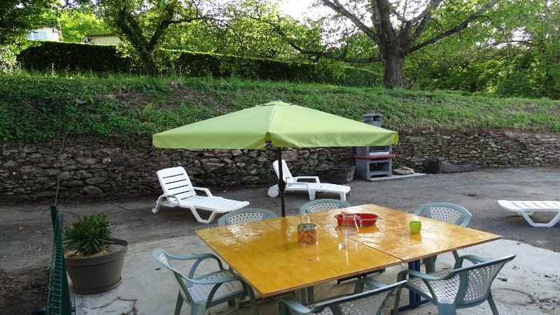 terrace barbecue or relaxing meal