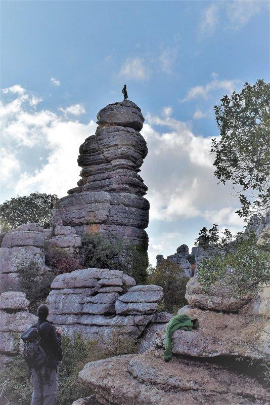 vue sur le parc naturel Torcal de Antequera.