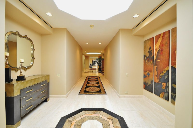 East Wing Hallway with Skylights