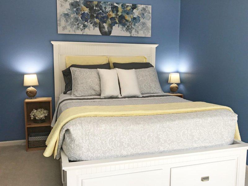 Ihr Schlafzimmer mit Premium-Nest Bettwäsche Queen-Matratze.
