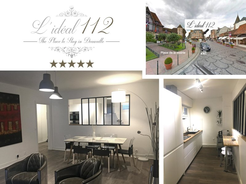 L'IDEAL 112***** Deauville : APPART DE STANDING (85M2, 2 chambres, PARKING), vacation rental in Tourgeville