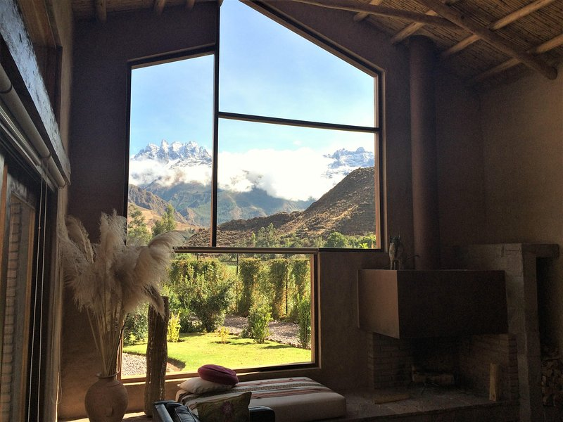 View from the room to the snowy Pitusiray