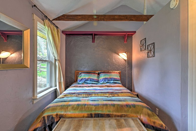 Sleep soundly each night in the studio's queen bed.