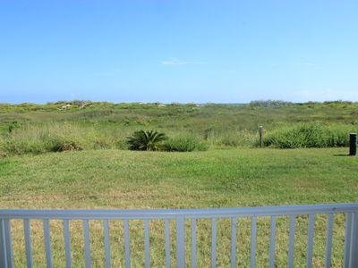 View across dunes from back porch--you can hear the waves!