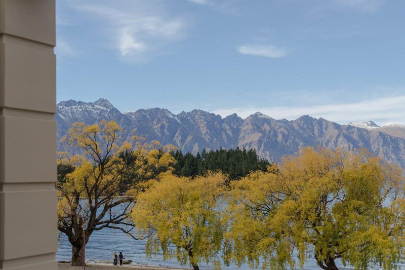 Views of The Remarkables from the master bedroom
