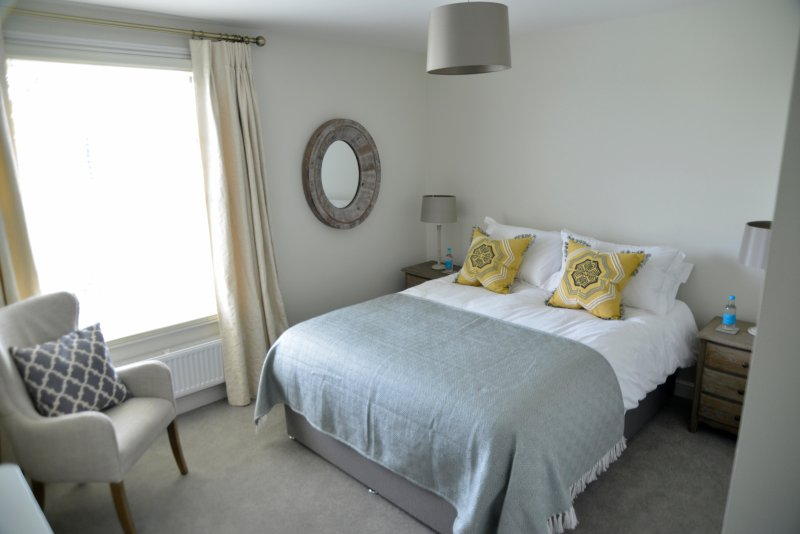 Newly refurbished bedrooms, king size beds and meadow views